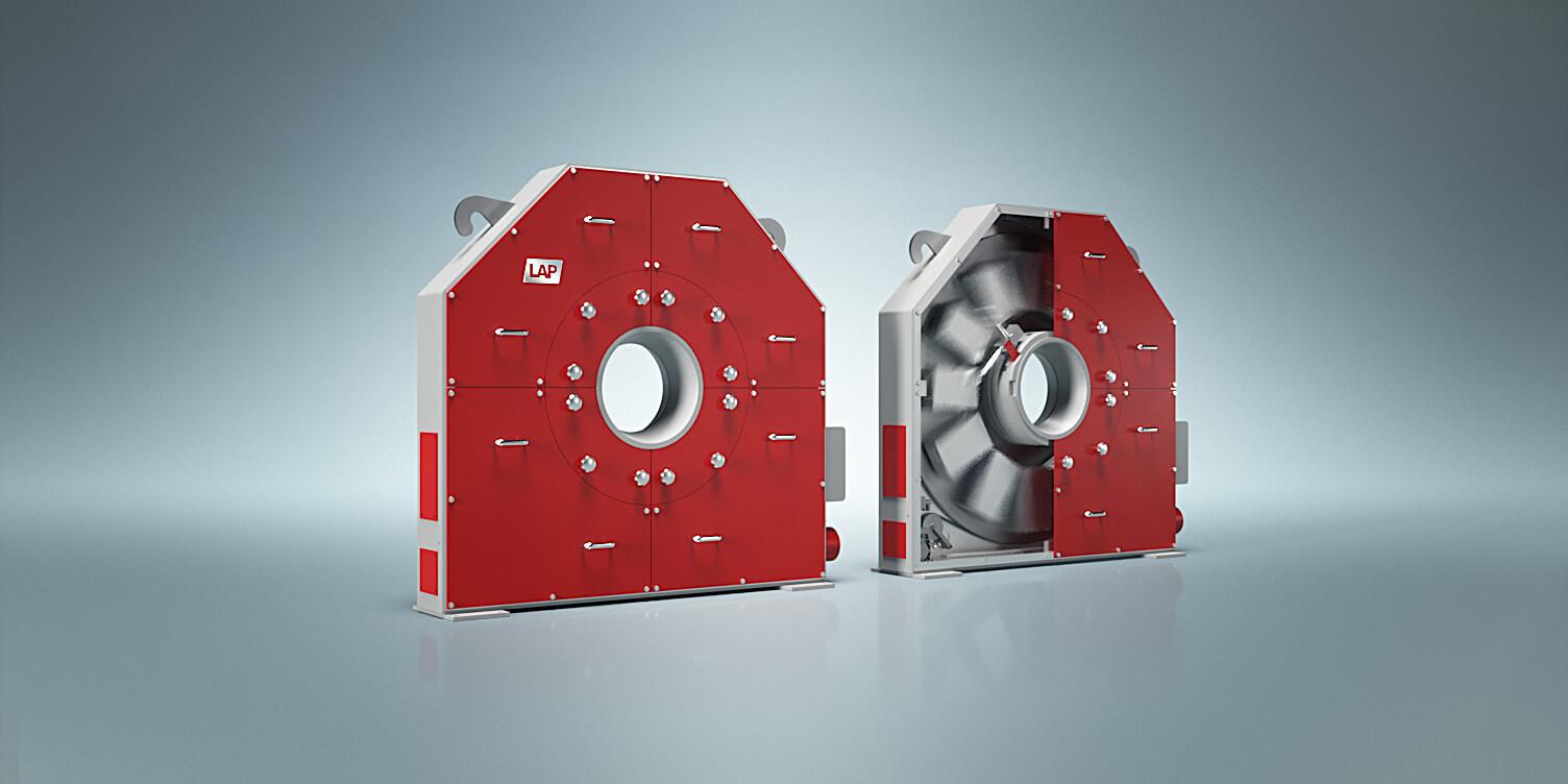 LAP's robustes Lasermessystem für die Konturerfassung von runden und eckigen Stahlprofilen.