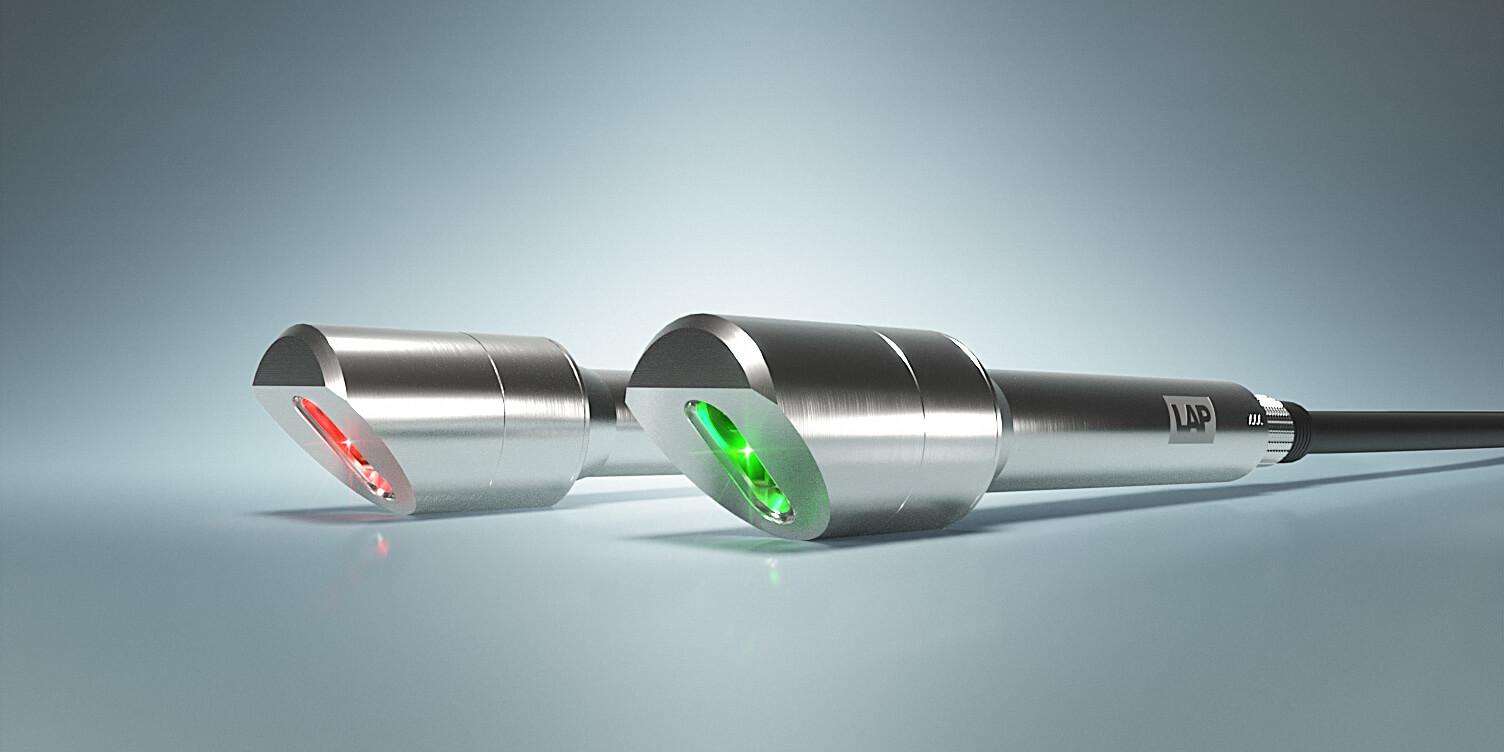 Abbildung von XtrAlign HU Lasern mit grüner und roter Laserlinie