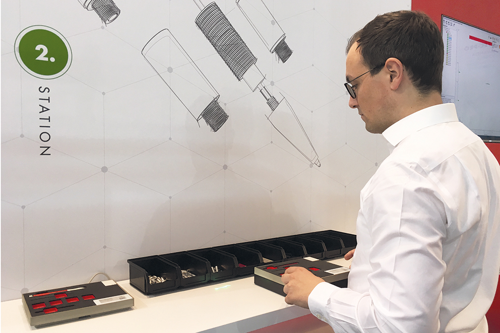 LAP demonstrated ASSEMBLY PRO for digital ballpoint pen manufacture as a second example,