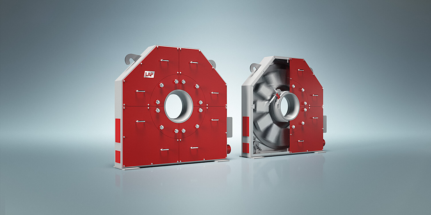 LAP's robust laser measuring system for the contour measurement of round and square steel profiles.