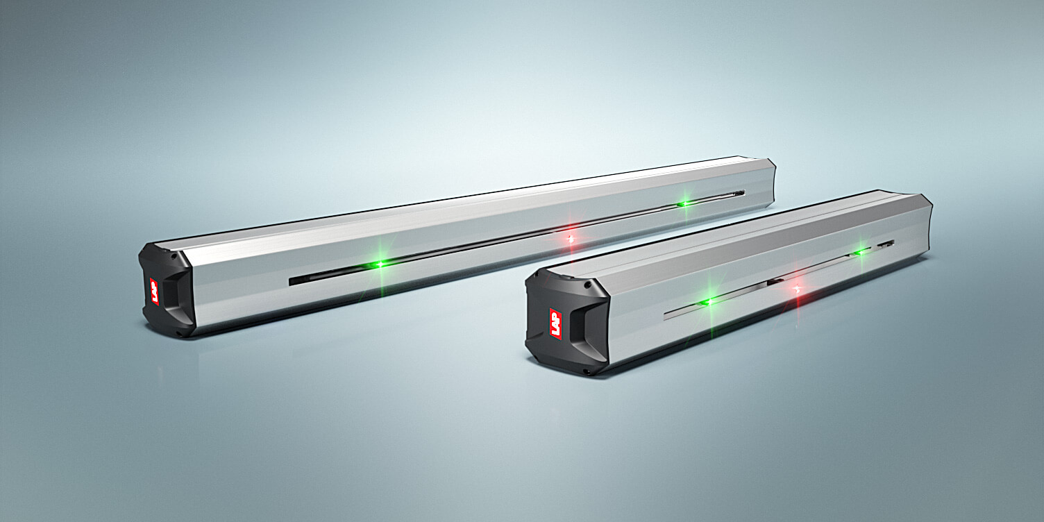 Illustration of two SERVOLASER Xpert with two movable green lasers and one fixed red laser