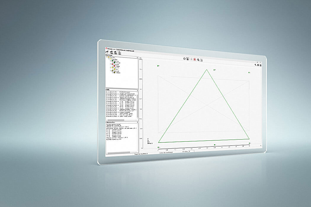 screenshot of LAP PRO-SOFT ST projection control software