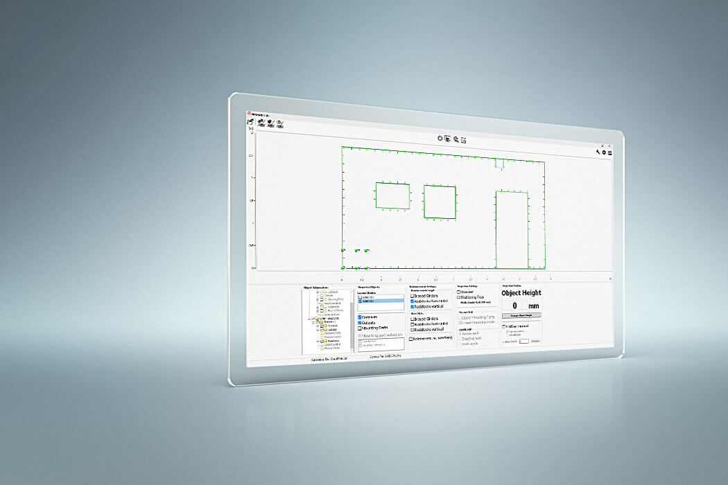 screenshot of LAP PRO-SOFT UT projection control software
