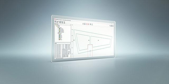 capture d'écran du logiciel de contrôle de projection LAP PRO-SOFT