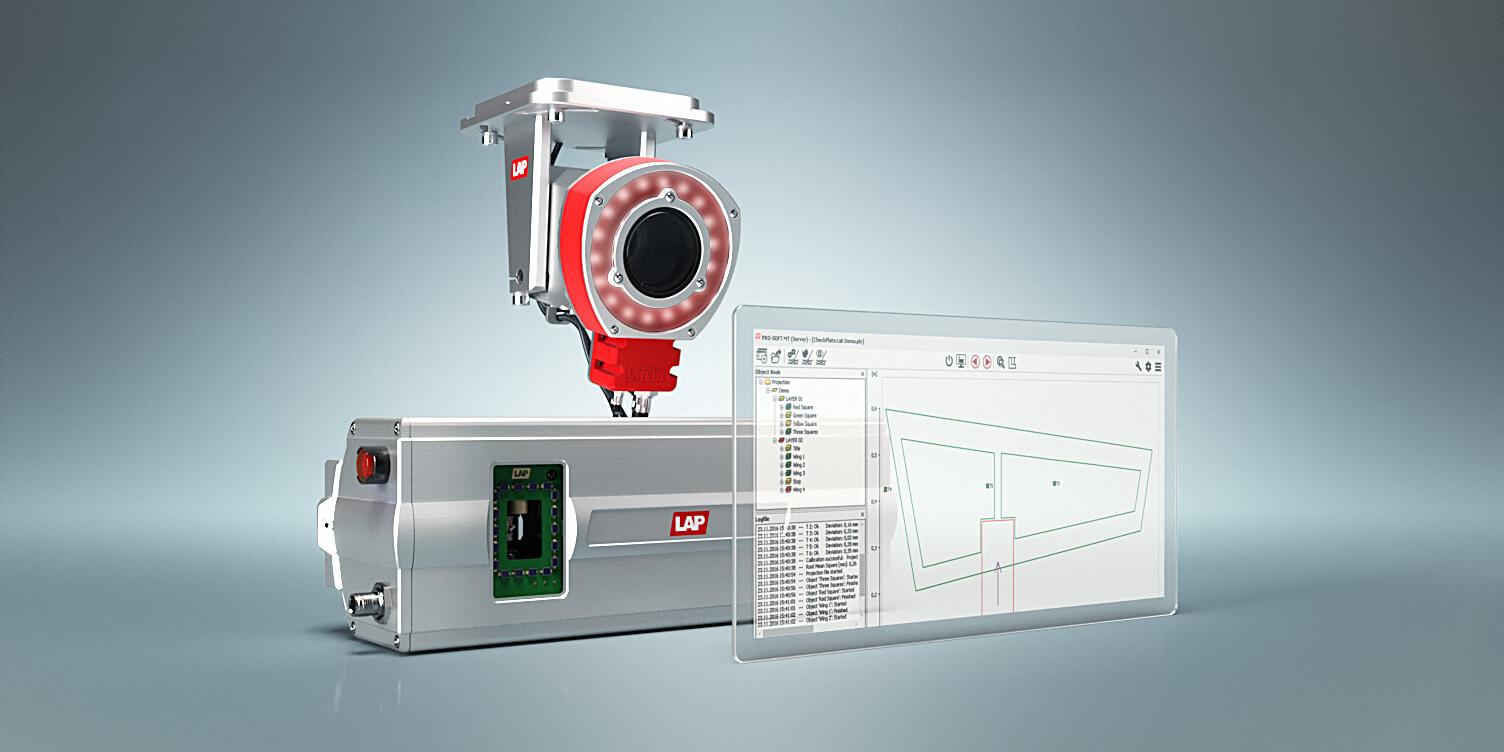 image de projecteur laser, caméra ir et logiciel